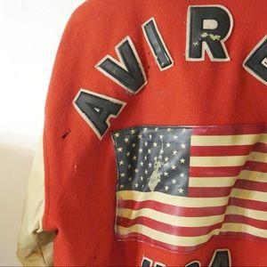 Avirex Jackets & Coats - Vintage Red Avirex Leather + Wool Varsity Jacket